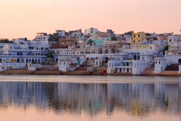Pushkar at sunset photographed by Sarka Photography