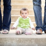 baby boy sitting on steps photographed by Santa Barbara and San Francisco bay area baby photographer Sarka Photography