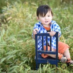 baby boy sitting on a vintage chair photographed by Santa Barbara and San Francisco bay area baby photographer Sarka Photography