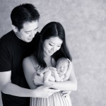 newborn baby boy with parents photographed by San Francisco Bay Area and Santa Barbara baby photographer Sarka Photography