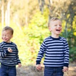 twin boys laughing photographed by Santa Barbara and San Francisco Bay area photographer Sarka Photography