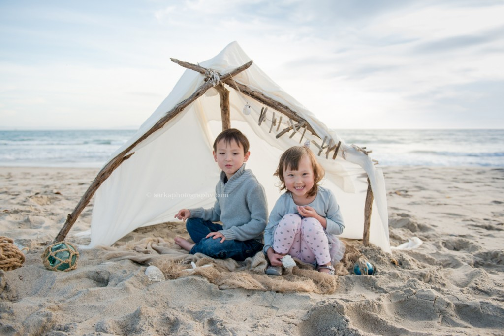kids playing at the beach photographed by Santa Barbara children and family photographer by Sarka Photography